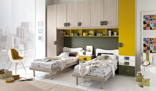 Camera da letto doppia per bambini
