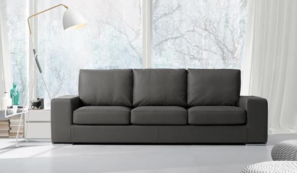 Divani Brazzorotto Rovigo: divano nero tre posti