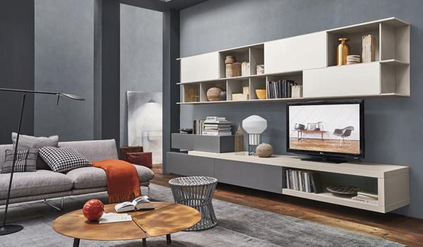 Soggiorni, divani, librerie, pareti attrezzate altamente tecnologiche